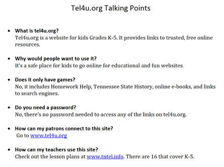 TEL Talking Points